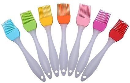 driew multiusos silicona hilván cepillos, cepillo de salsa para barbacoa carne, pincel para postres