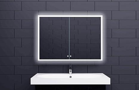 Mobile specchio estafa illuminazione led cm mobile bagno