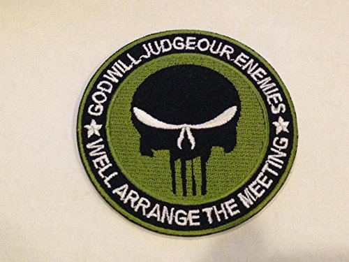[Godwill Judgeour enemies Skeleton(Dark green)size 7.5cm. Logo Jacket Vest shirt hat blanket backpack T shirt Patches Embroidered Appliques Symbol Badge Cloth Sign Costume] (Female Master Chief Costumes)