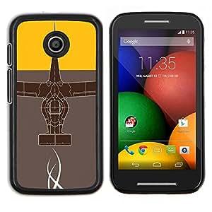 Qstar Arte & diseño plástico duro Fundas Cover Cubre Hard Case Cover para Motorola Moto E (Diseño abstracto)