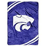 "NCAA Kansas State Wildcats Force Plush Raschel Throw, 60"" x 80"""