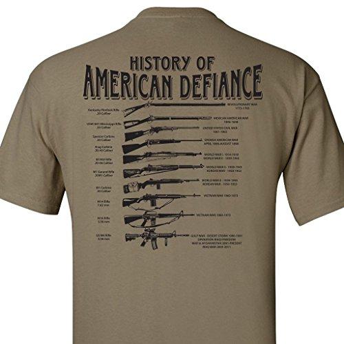 History of American Defiance T-Shirt (Coyote Tan - 3X)