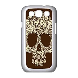 QSWHXN Phone Case Artsy Skull Hard Back Case Cover For Samsung Galaxy S3 I9300
