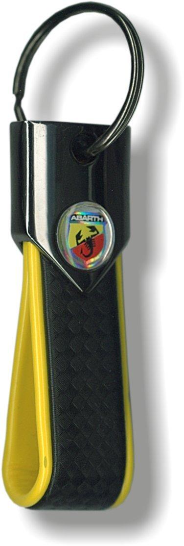 Llavero Oficial Abarth Carbon Yellow: Amazon.es: Coche y moto