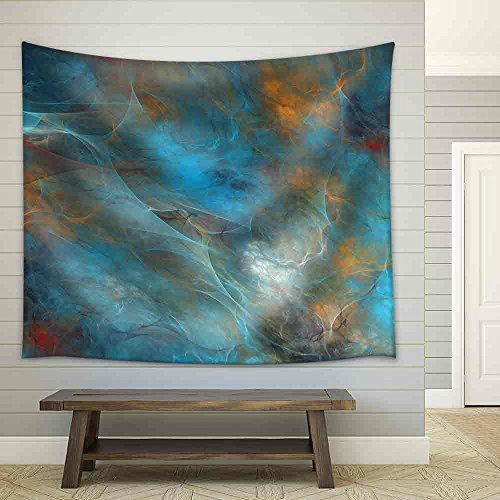 Abstract Shapes Made of Fractal Textures Fabric Wall