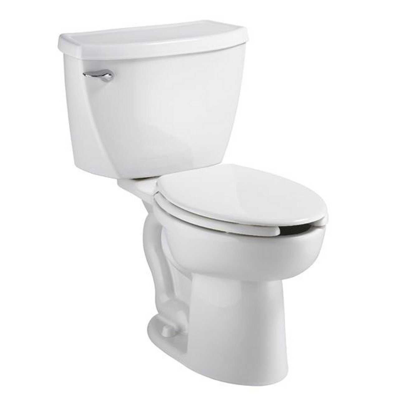 American Standard 2467.100.020 Cadet Flowise Pressure Assisted Elongated Right-Height Two-Piece Toilet with EverClean, White