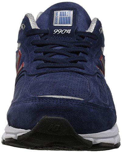 New Balance Men's 990v4 Running Shoe, Blue/Pigment Red, 7 D US by New Balance (Image #4)