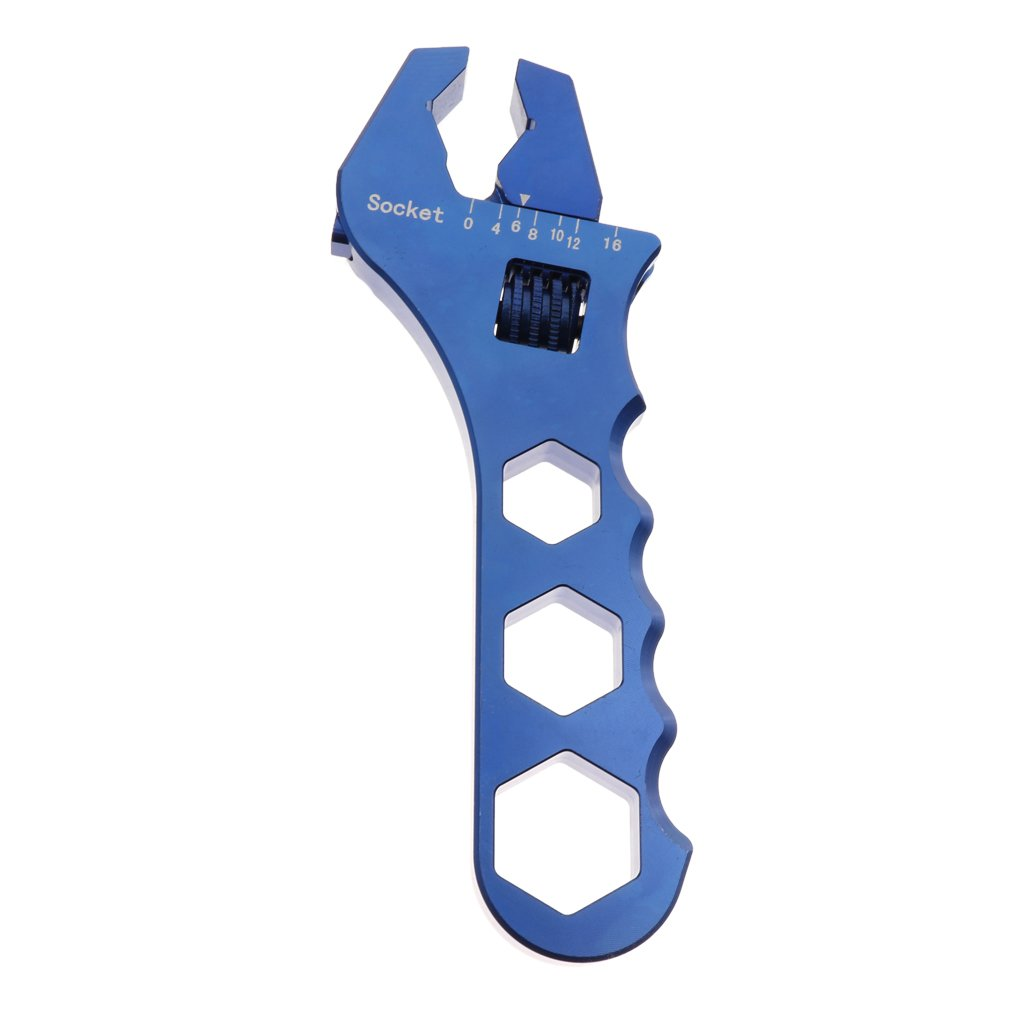 Baoblaze Car Oil Filter Wrench AN3 to AN16 Release Tool AN Fitting Spanner Adjustable - Blue by Baoblaze (Image #5)