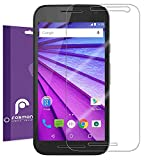 Motorola Moto G (3rd Gen, 2015) Screen Protector (3 Pack) - Fosmon Crystal Clear (HD) [Japan 3H Hard Coating Film] Screen Shield for Motorola Moto G (3rd Gen, 2015)