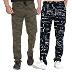 SHAUN Men's Regular Fit Trackpants (Pack of 2)