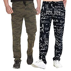 SHAUN Men's Regular Fit Trackpants (Pack of 2) (B07P8Y7Z5D_Multi-Coloured_X-Large)