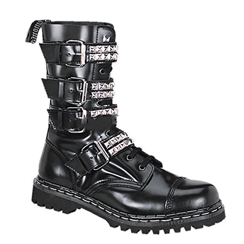 3 ranger Gravel industrial 10S punk M10 US Demonia punk 12 Size EU 43 shoes boots gothic leather 5 industrial PdpRB8xw