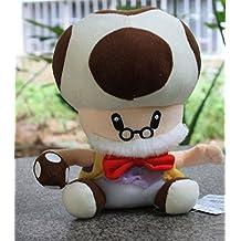 Super Mario Bros Mushroom Grandpa soft Plush Stuffed Animals Doll Kids Toys 24 cm