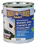Masonry & Stucco Paint, White, 1 gal.