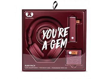 FreshN Rebel FNRGP01 - Pack de Regalo con Altavoz portátil, Auriculares y batería
