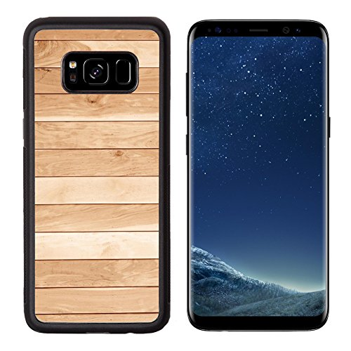 Luxlady Premium Samsung Galaxy S8 Aluminum Backplate Bumper Snap Case IMAGE ID: 26968870 teak wood plank texture with natural patterns teak plank teak wall