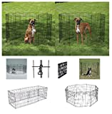 Exercise Pens For Dogs & Pets Small Affordable 24'' Black Wire Ex Pen Play Yard