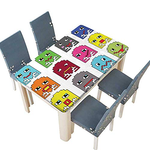 PINAFORE Decorative Tablecloth 90S Vintage Video Games Style