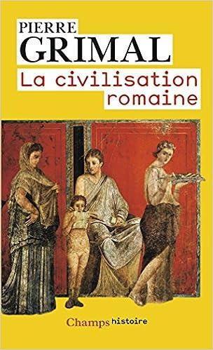 Livre La civilisation romaine epub pdf
