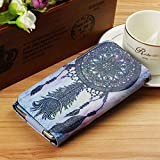 """Cell Phone Flip Case Compatible ZTE Cymbal-T Z353VL 3.5"""" More, JULAM Universal PU Leather Skin Folio Case Cover Protective Wallet Clutch Bag Card Slots"""