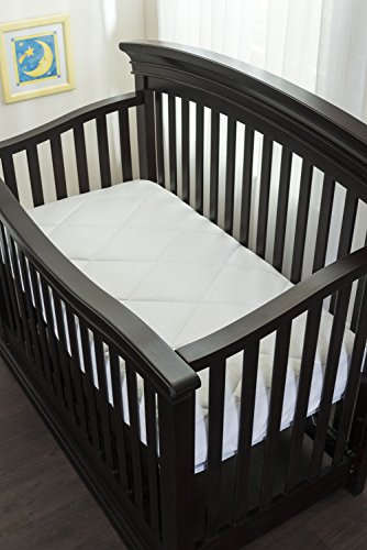 Luxurious Fitted Down Alternative Crib Mattress Pad 100% Cotton Top 300 Thread Count, Allergy Free, Deep Stretchable Skirt, Baby/Toddler Mattress - Allergy Mattress Crib Cover
