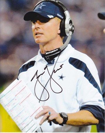 Jason Garrett Autographed / Hand Signed Dallas Cowboys 8x10 Coaching Photo