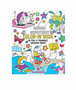 """International Arrivals 118-159 Coloring Book, Unicorn Adventures, 32 Pages, 9"""" x 12"""""""