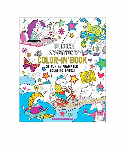 Amazon Com Ooly Coloring Book Unicorn Adventures 32 Pages 9 X