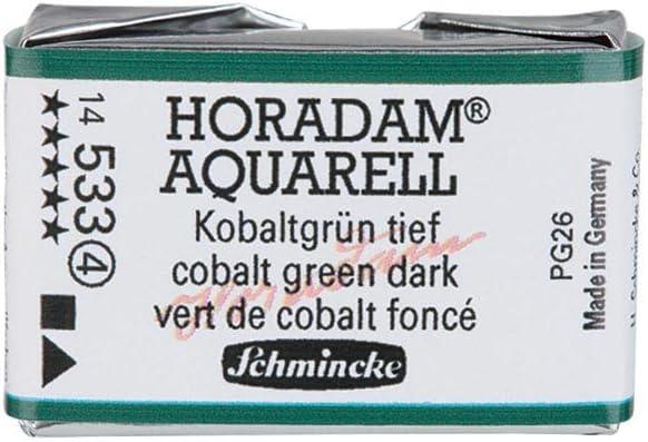 FULL PAN Schmincke Horadam Watercolour Cobalt Green Dark