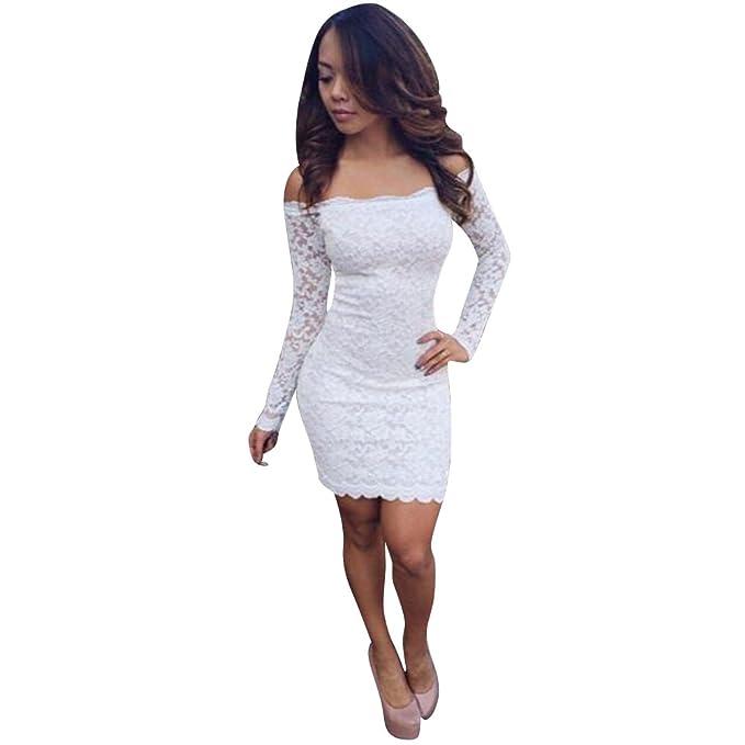 Chouette - Vestido - Vestidos - Manga Larga - para mujer blanco 38 / 40