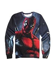 Snlydtan Women Men Marvel Comics Deadpool X-Men Sweatshirt Hoodies Clothing Medium