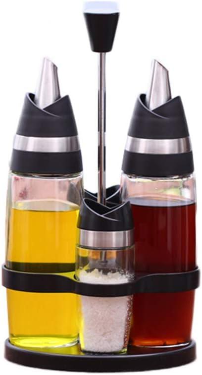 Botella de condimentos Frasco de especias de vidrio Set Botella de aceite anti-fugas de estilo europeo Material de cocina