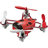 Dwi Dowellin 2.4G 4CH 6-Axis Mini RC Quadcopter with Headless Mode Nano RC Drone UFO RTF Helicopter CHEER-X1 Red