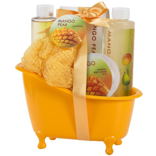 Bath, Body, and Spa Gift Basket for Women, in Mango Pear Fragrance,...
