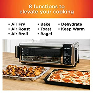 Ninja SP101 Foodi 8-in-1 Digital Air Fry, Large Toaster Oven, Flip-Away for Storage, Dehydrate, Keep Warm, 1800 Watts…