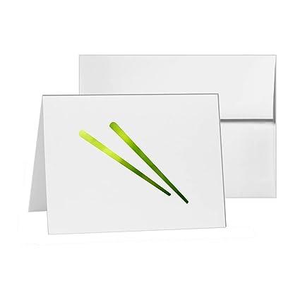 amazon com chopsticks eat food rice utensils blank card