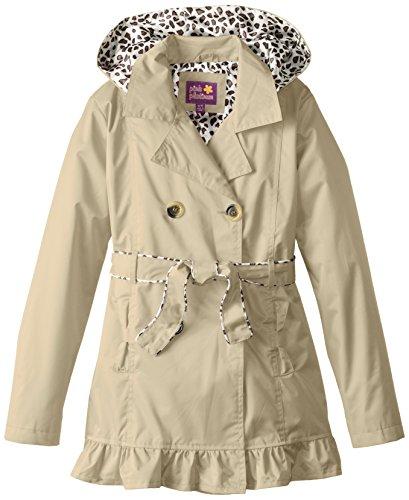 Pink Platinum Big Girls' Double Leopard Jacket, Khaki, 10/12