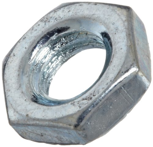 Steel Hex Jam Nut, Zinc Plated Finish, Class 4, DIN 439B, Metric, M6-1 Thread Size, 10 mm Width Across Flats, 3.2 mm Thick (Pack of 100) (Mm Nut Jam 10)
