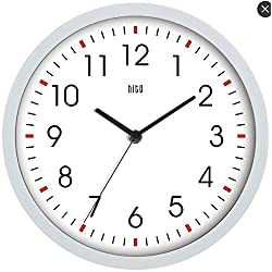 HITO Modern Colorful Silent Non-ticking Wall Clock- 10 Inches (White#2)