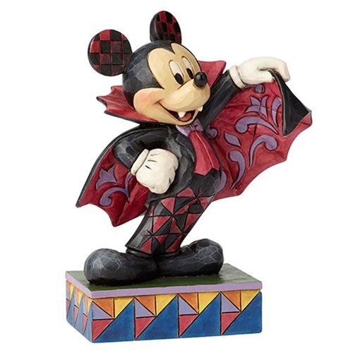 Department56 6000950 Traditions Vampire Mickey Mouse, (Halloween Mouse)