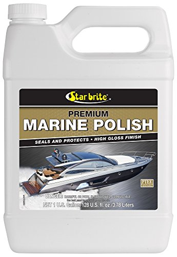 Star brite Premium Marine Polish with PTEF - Boat Wax That Seals & Protects Gel Coat with a High Gloss Finish