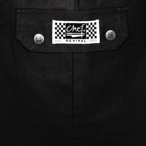 Chef Revival LP002BK Poly Cotton Ladies Cargo Pant with 2 Rear and 2 Side Pockets, X-Large, Black (Chef Revival Cargo Pants)