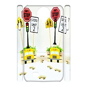 Custom School Bus Phone Case, DIY School Bus 3D Case for Samsung Galaxy S4 I9500