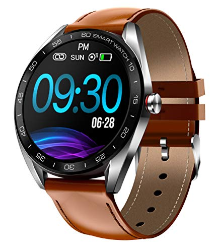 Lantop Smart Watch IP68 Waterproof Smartwatch Sports Business Bluetooth Fitness Tracker Enhanced Exercise Modes Gifts for Men Messages Reminder Heart Rate Blood Pressure Monitor