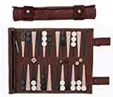 Best Backgammon Sets - Sondergut Roll-Up Suede Backgammon Game (Color-Mocha) Review