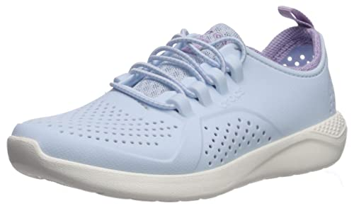 crocs LITERIDE Pacer K Sneaker Madchen Weissgetreiftblau