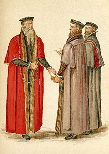 (Posterazzi Lord Mayor and Aldermen Elizabethan Era. from The Book Short History of The English People Poster Print by J.R. Green Published London 1893, (12 x)