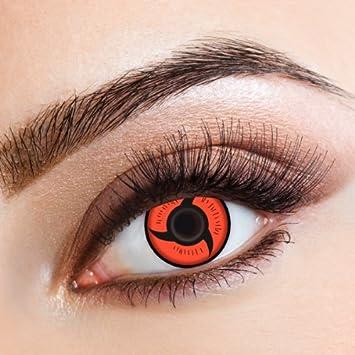 Aricona Color Lenses Sharingan Contact Lenses Red To Itachi Uchiha Cosplay Costume Amazon De Drogerie Korperpflege
