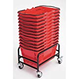 Versacart Black Steel Rolling Rack for Hand Baskets - 18 1/2''L x 13''W x 13''H