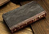 Retro Leather Vintage Book Flip Wallet Card Case Cover For Samsung Galaxy Phones (Galaxy S8 Plus)